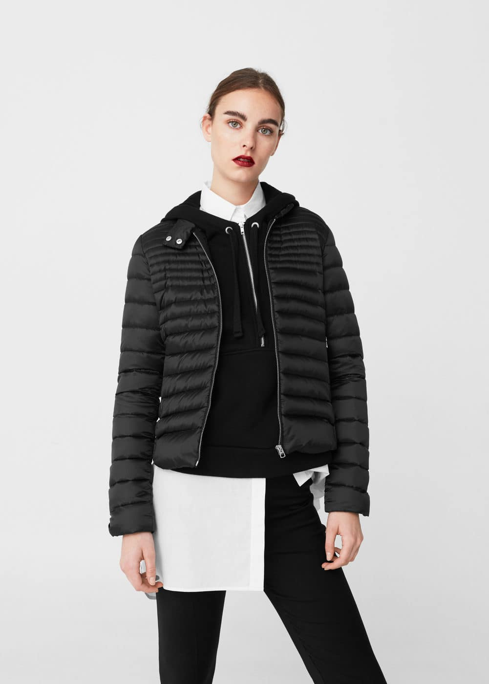Feather down coat | MANGO