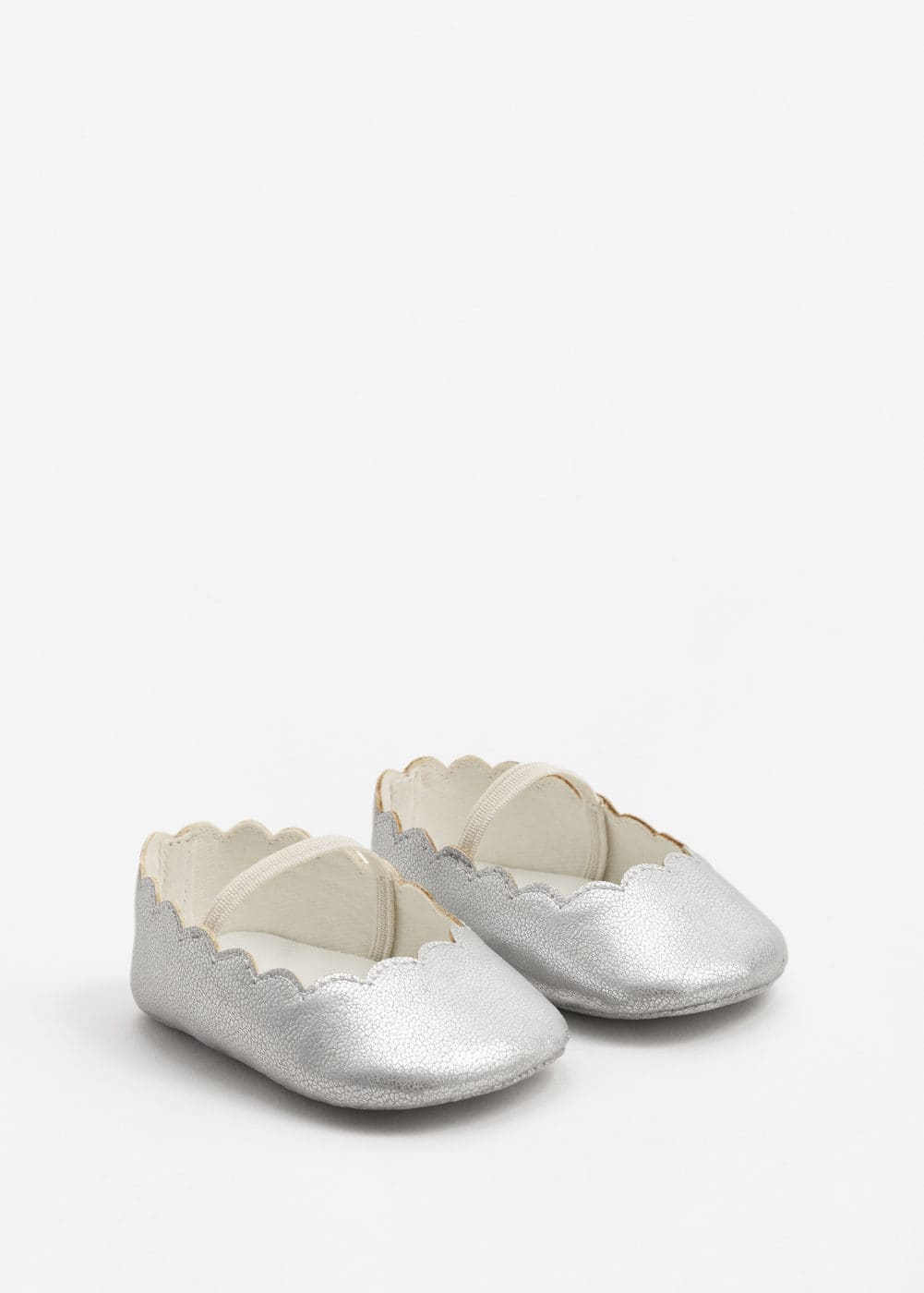 Metallic ballerinas | MANGO KIDS