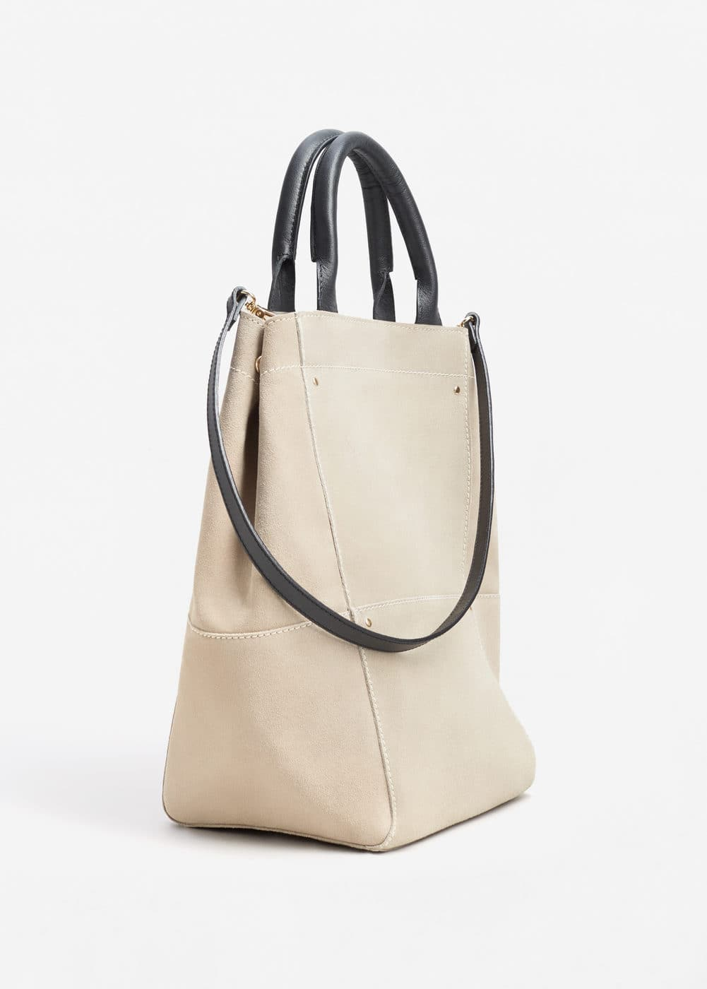 Medium leather bag | MANGO