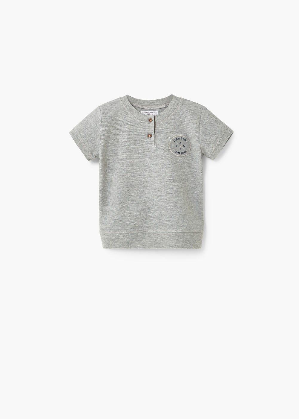 Patch henley t-shirt | MANGO KIDS