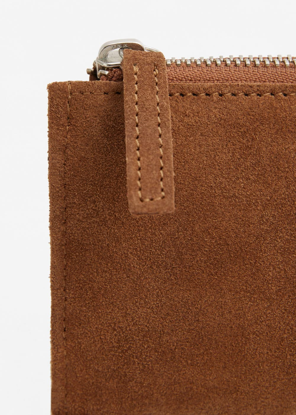 Suede purse | MANGO MAN
