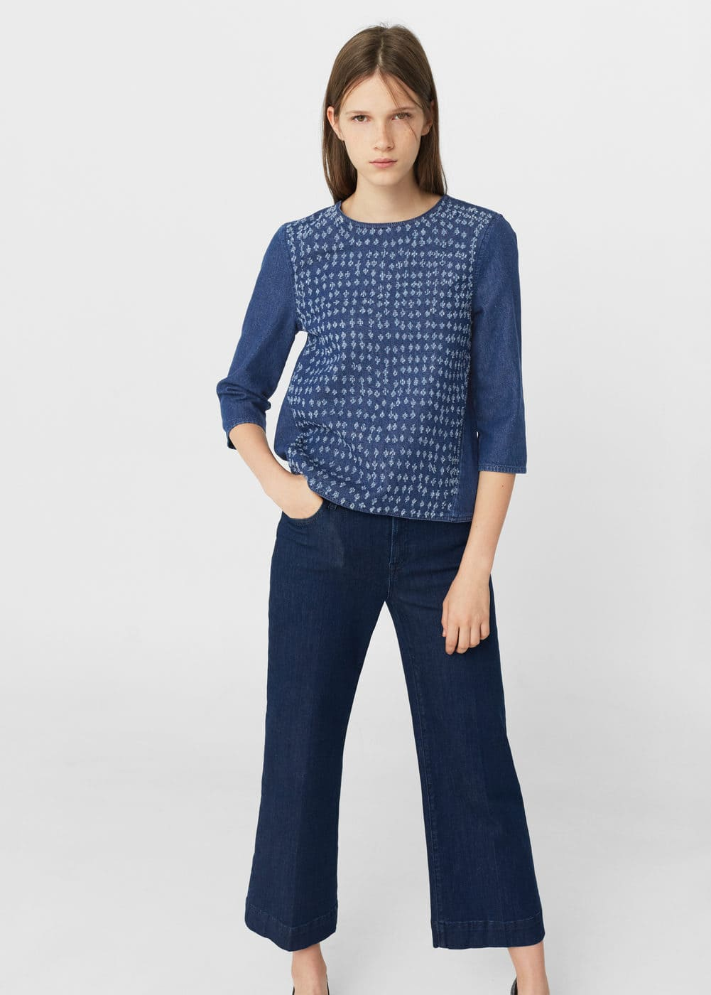 Medium denim blouse | MANGO