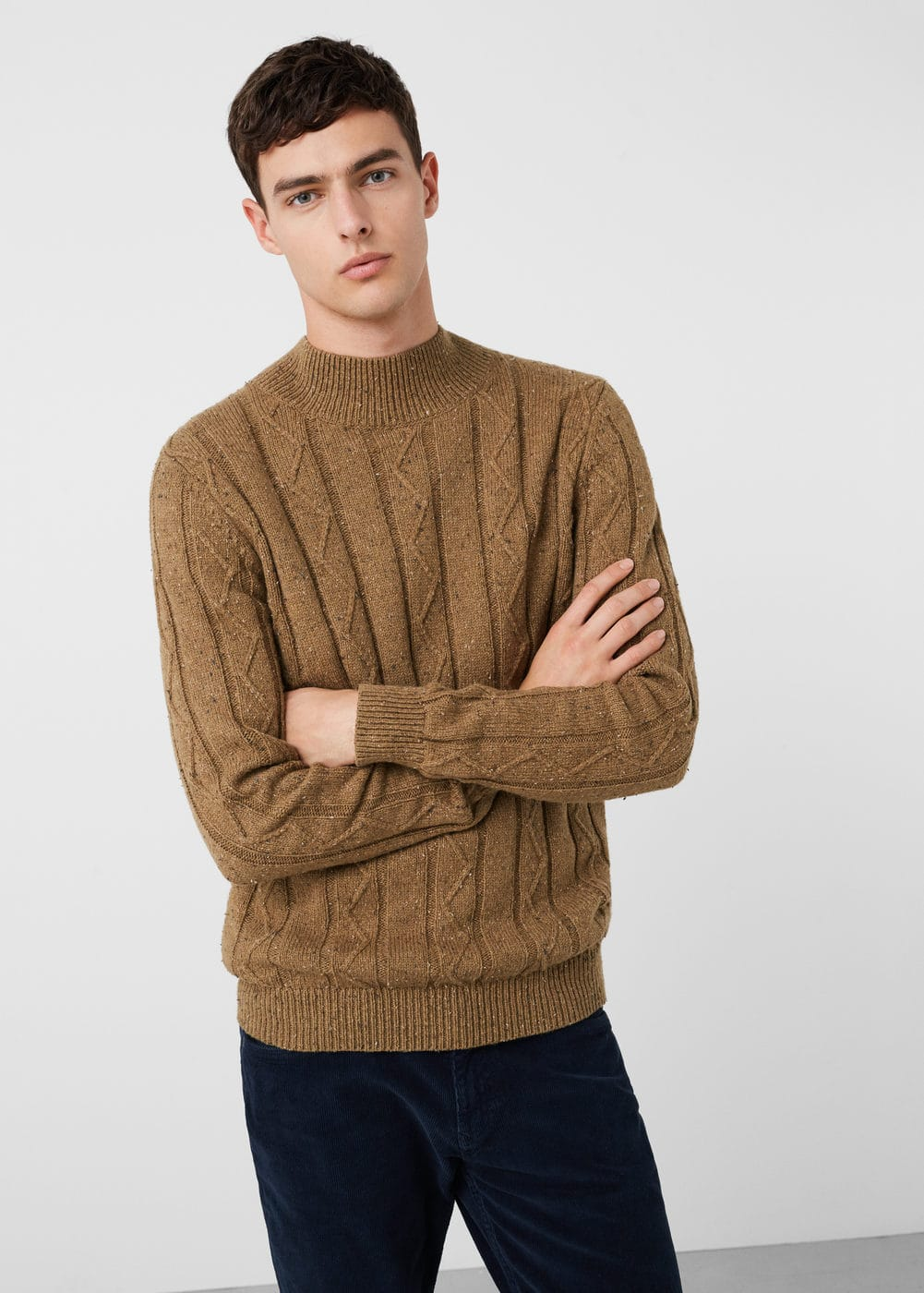 High collar sweater | MANGO MAN