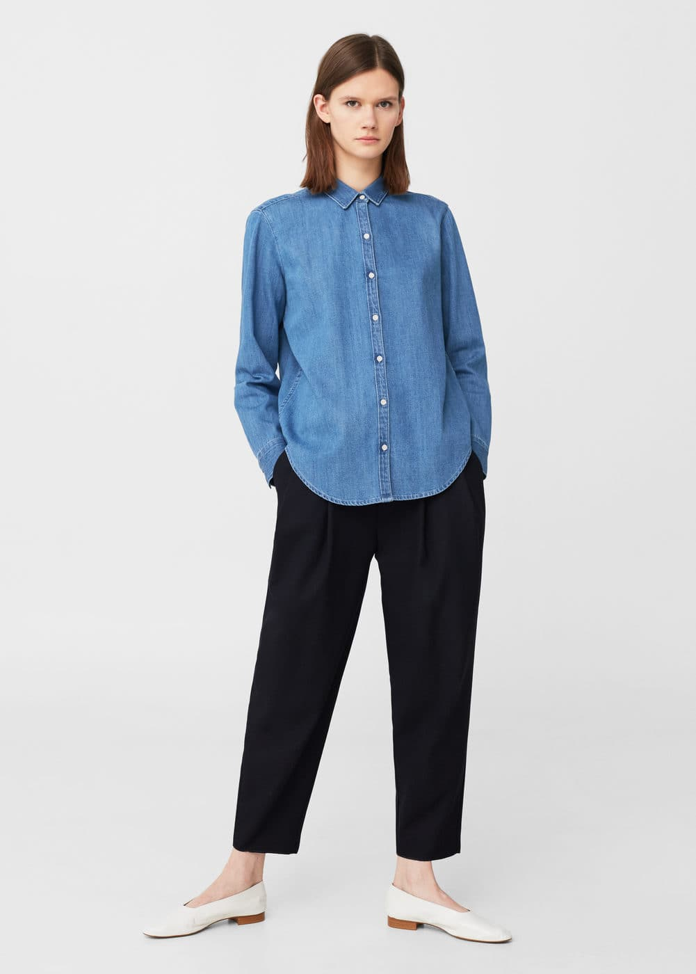 Light denim shirt | MANGO