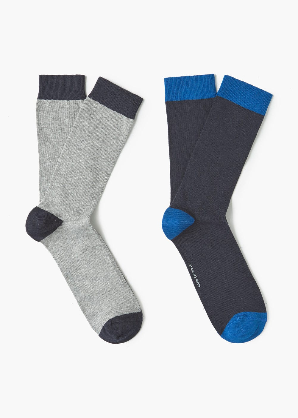 2 pack contrast socks | MANGO MAN