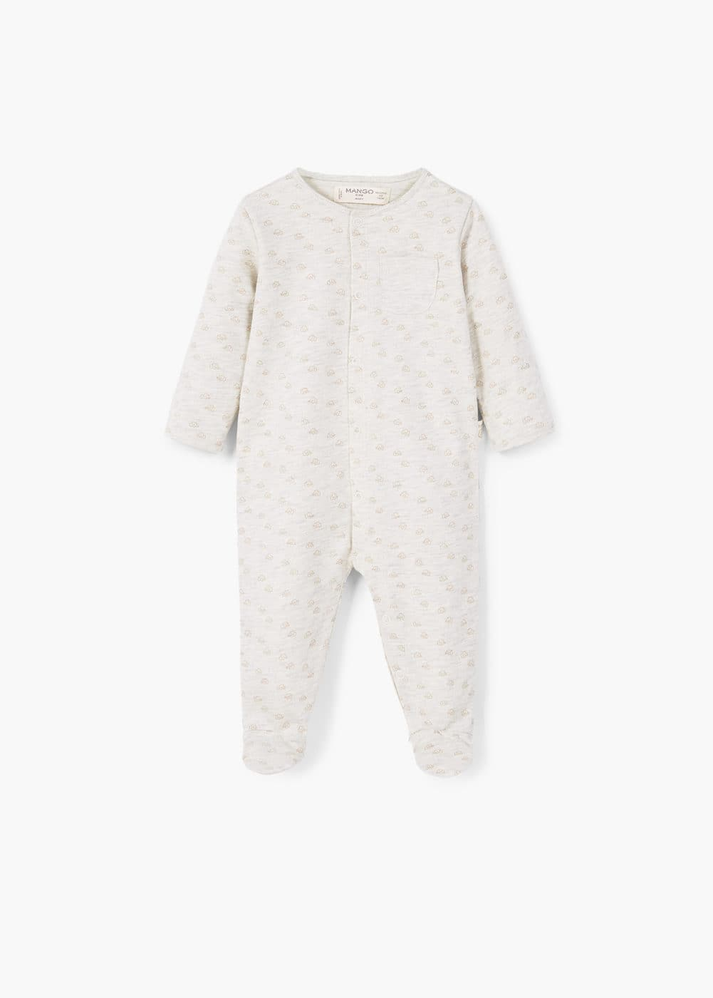 Printed organic cotton dungarees | MANGO KIDS