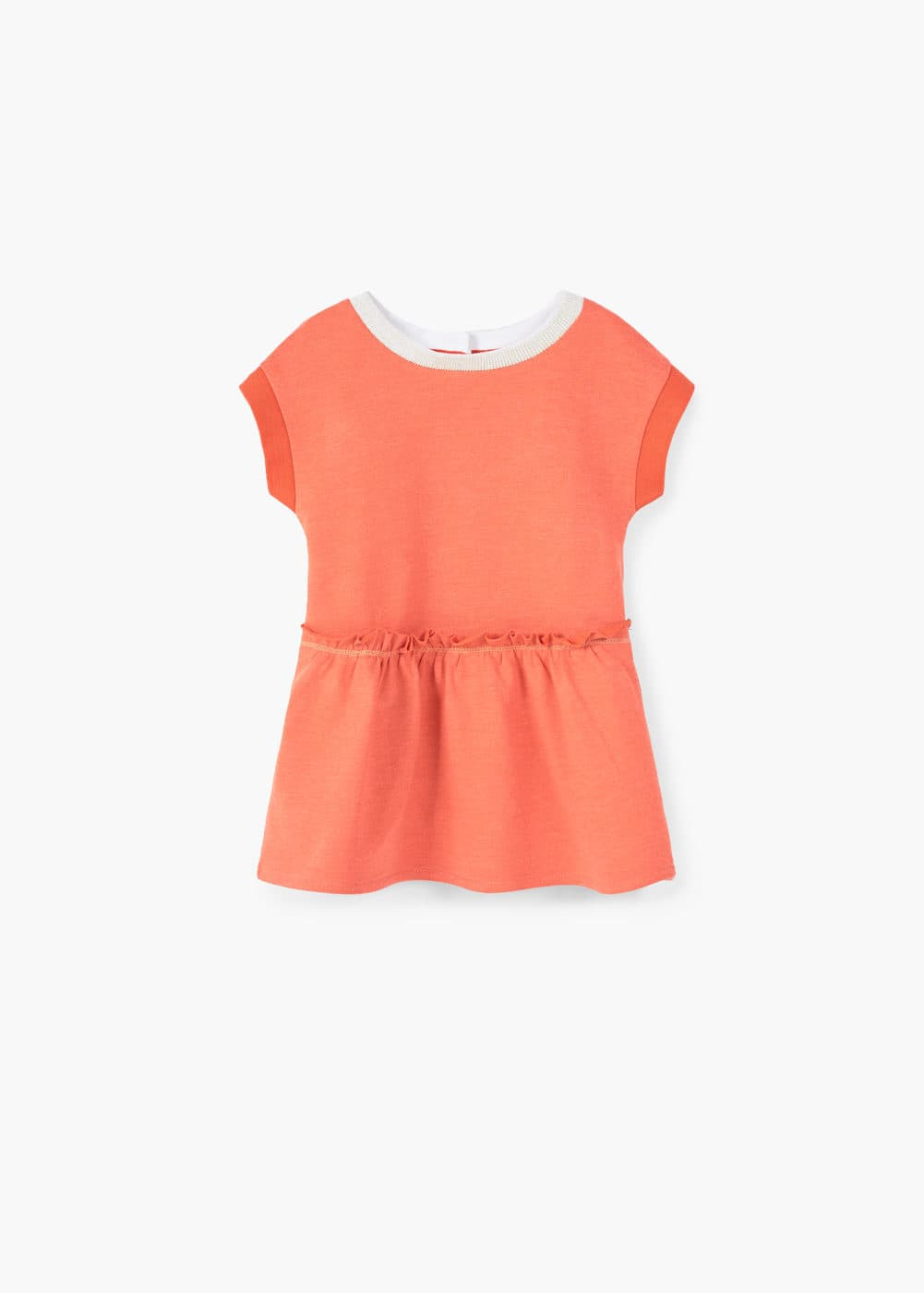 Contrast detail dress | MANGO KIDS