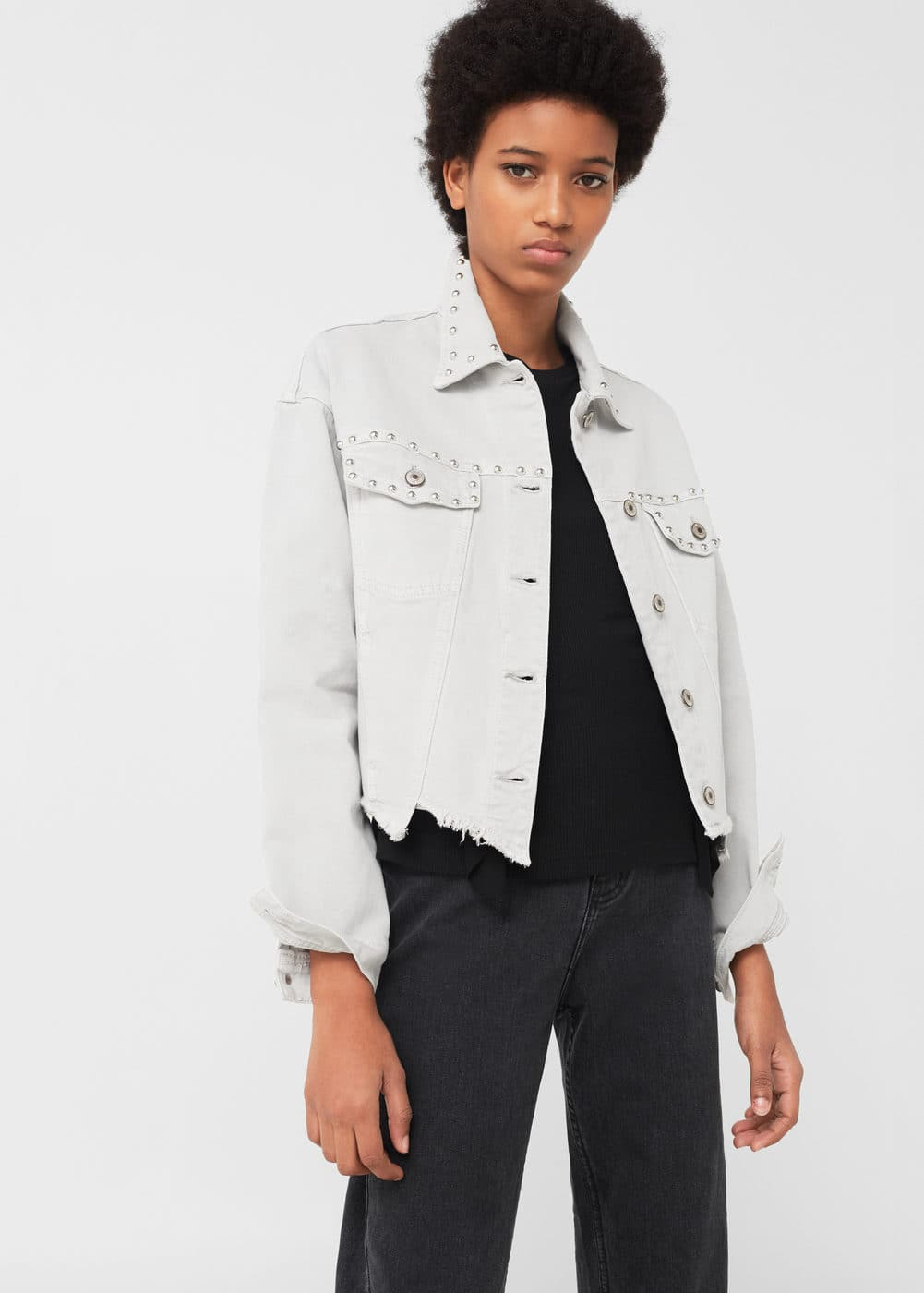 Studded denim jacket | MANGO