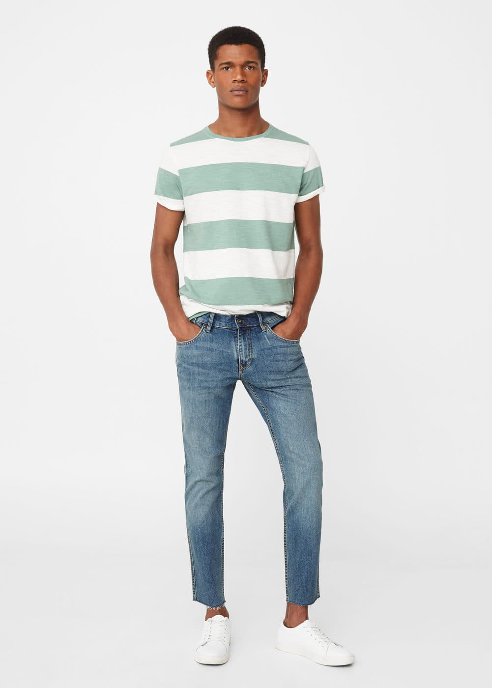 Skinny medium wash dylan jeans | MANGO