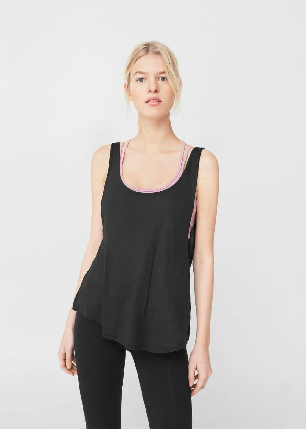 Incorporated bra t-shirt | MANGO