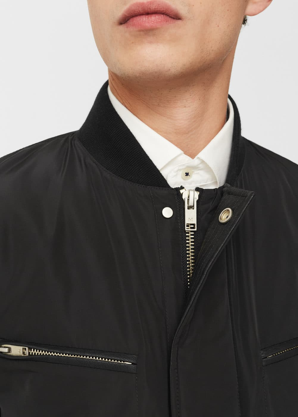 Technical fabric bomber jacket | MANGO MAN