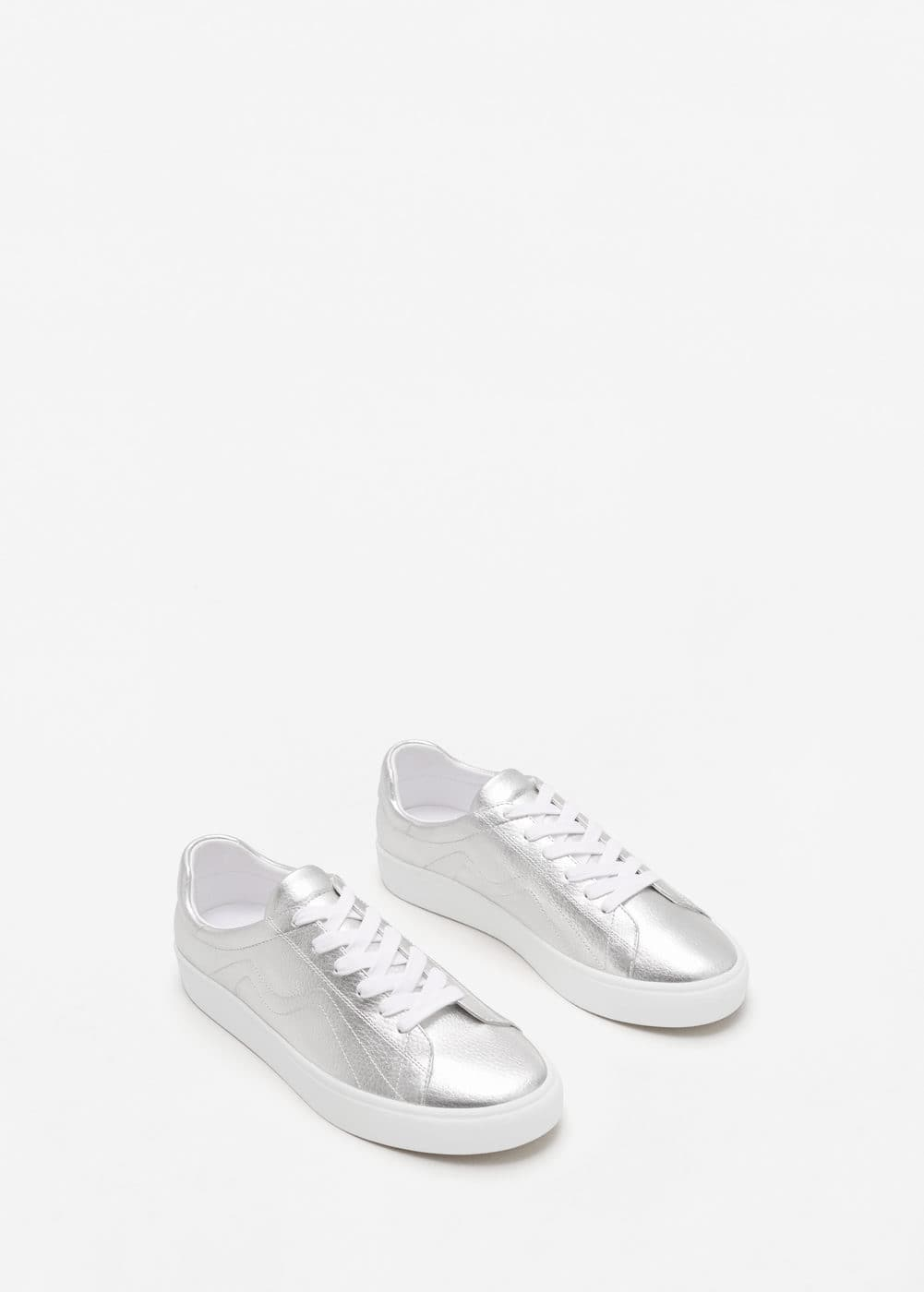 Stitches metallic sneakers | MANGO