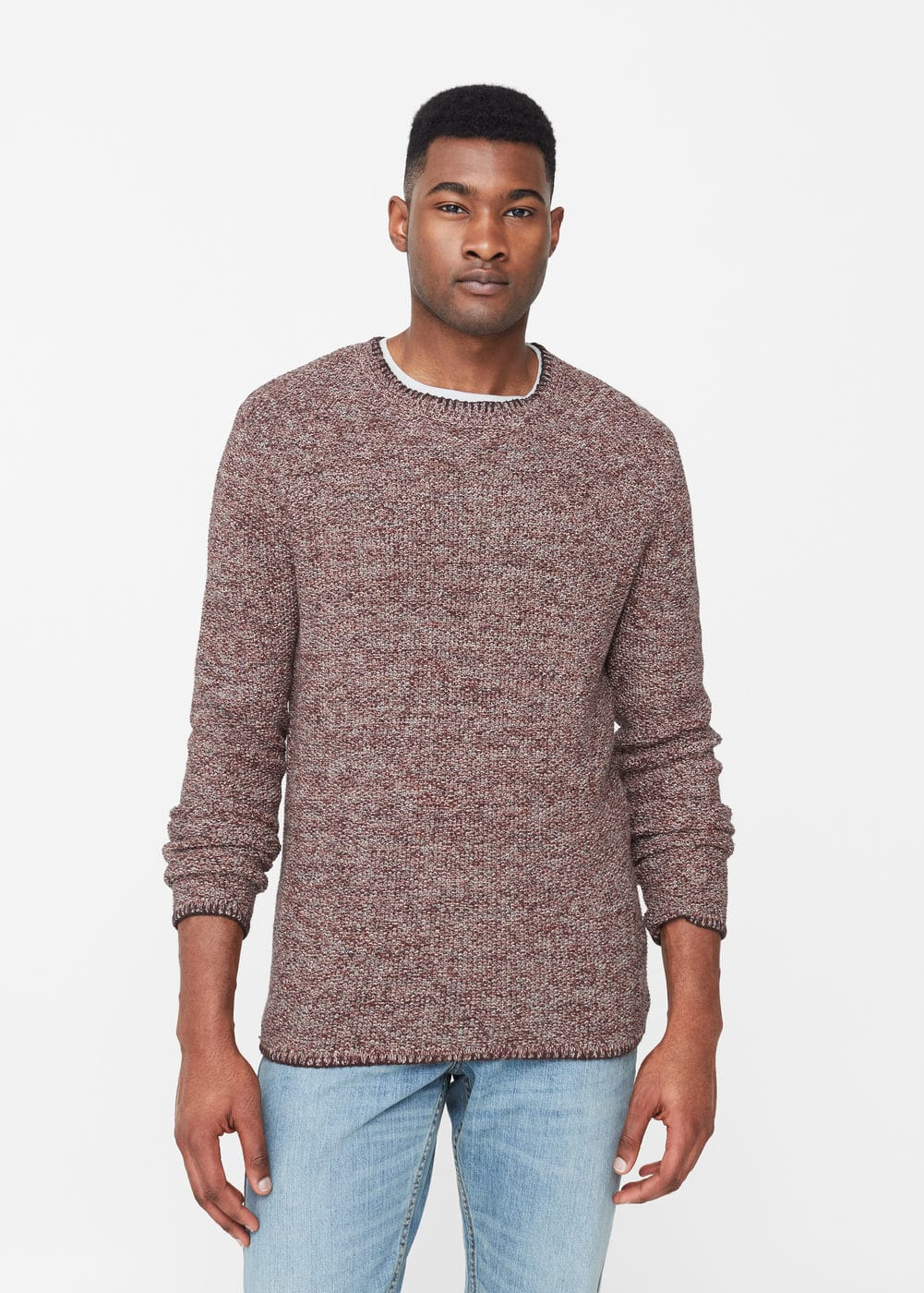 Flecked cotton-blend sweater | MANGO