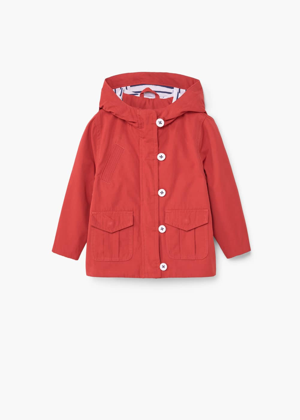 Cotton hooded coat | MANGO KIDS