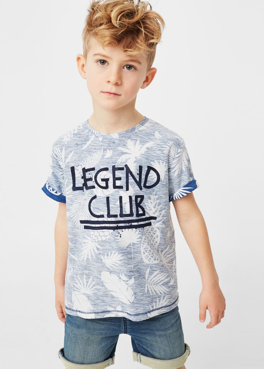 Printed message t-shirt | MANGO KIDS