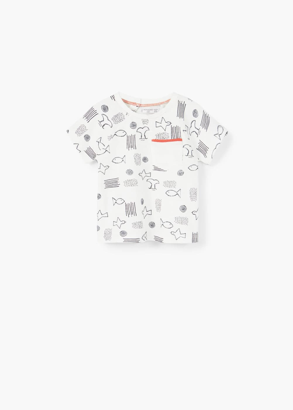Camiseta estampada bolsillo | MANGO KIDS