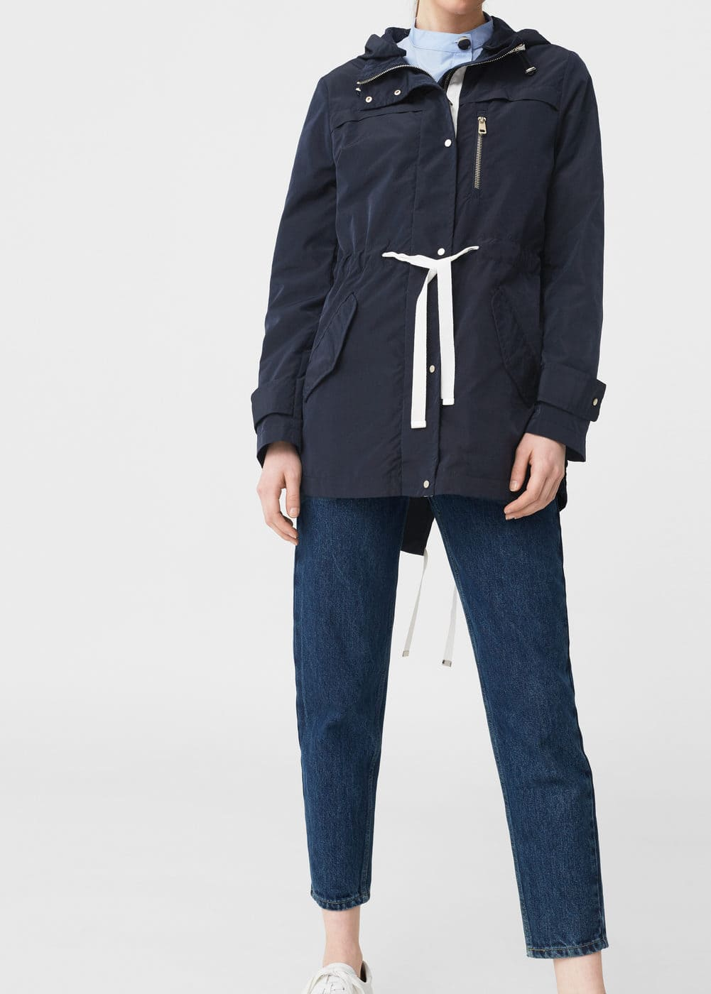 Adjustable cord parka | MANGO