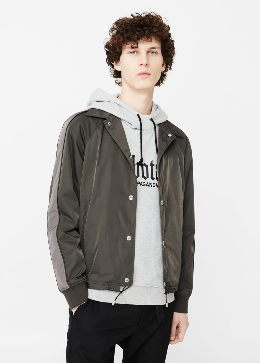 Contrast panel jacket | MANGO