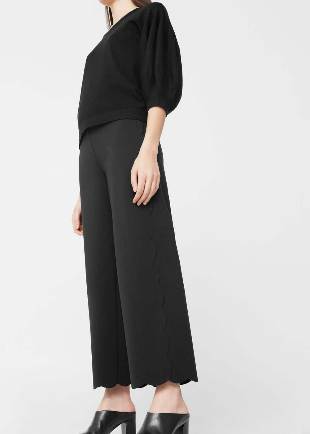 Scalloped hem trousers | MANGO