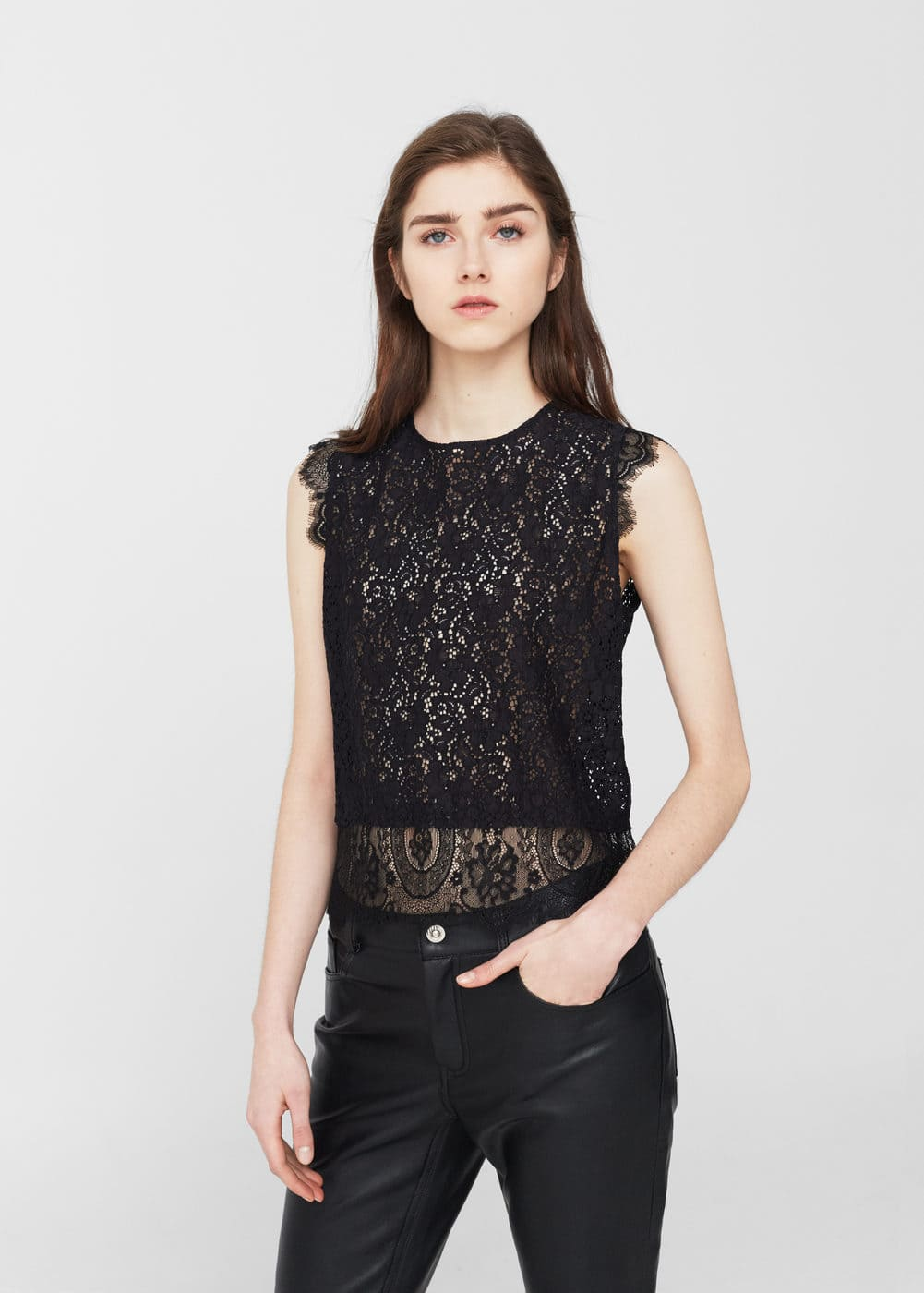 Lace top | MANGO