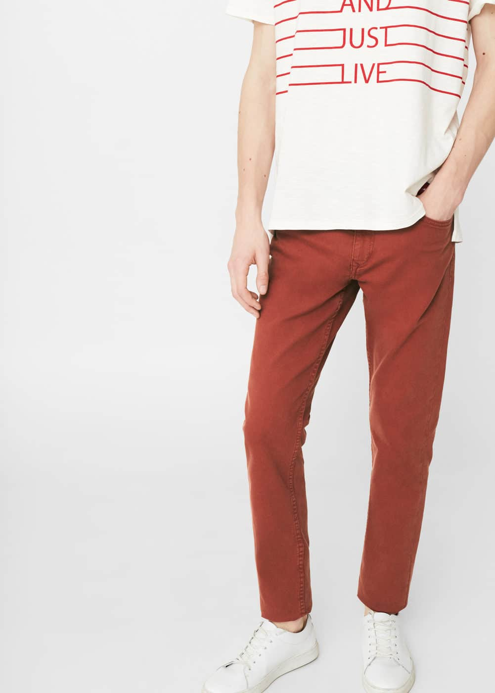 Slim-fit alex jeans | MANGO MAN