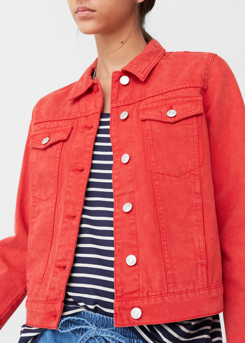 Color denim jacket | MANGO