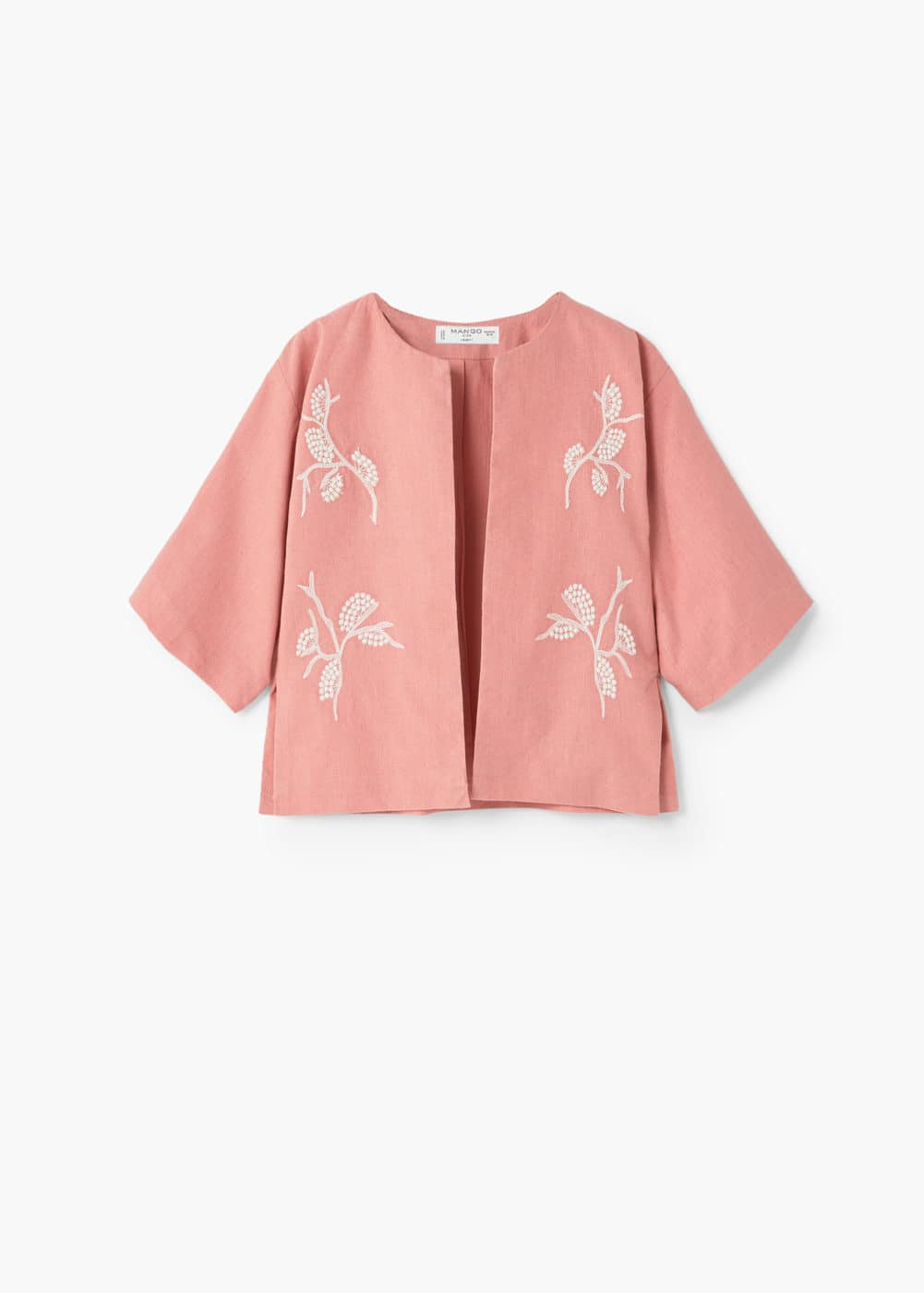Embroidered cotton jacket | MANGO KIDS