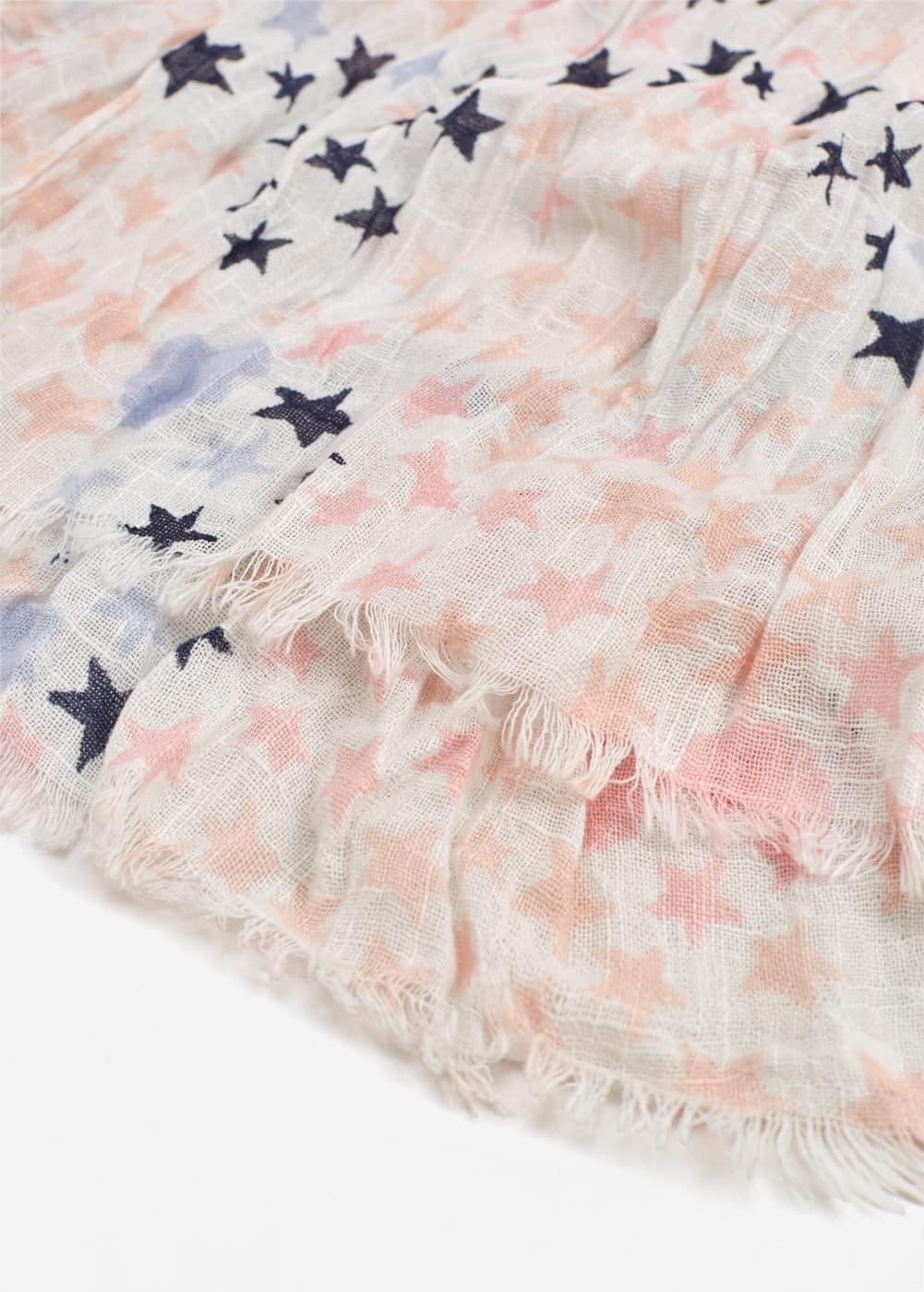 Stars cotton scarf | MANGO KIDS