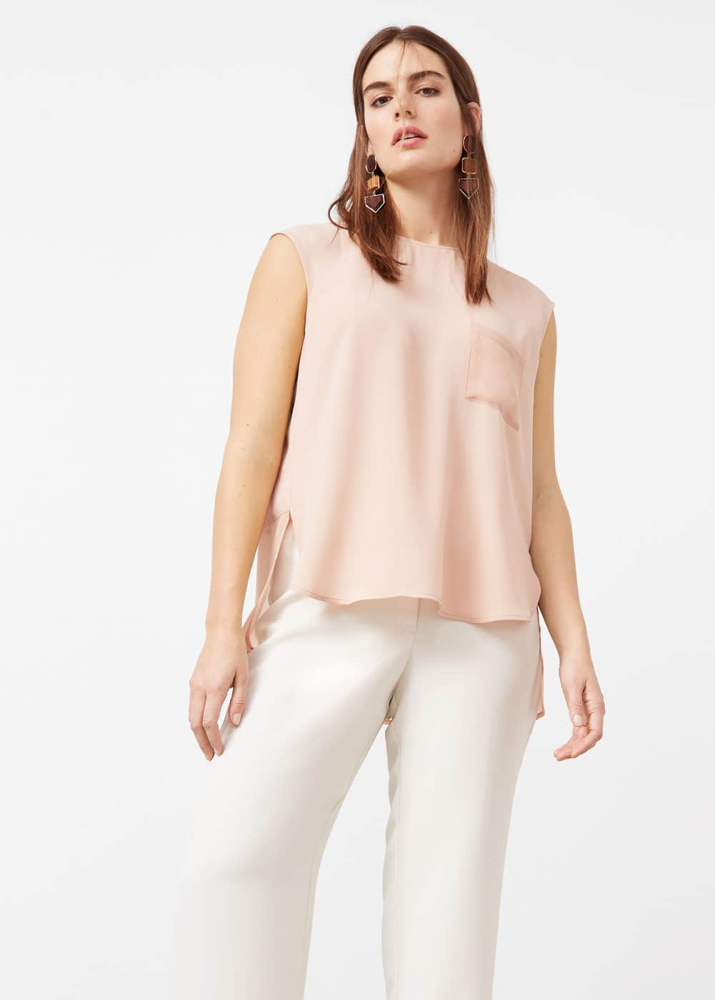 Top fluid combinat | VIOLETA BY MANGO