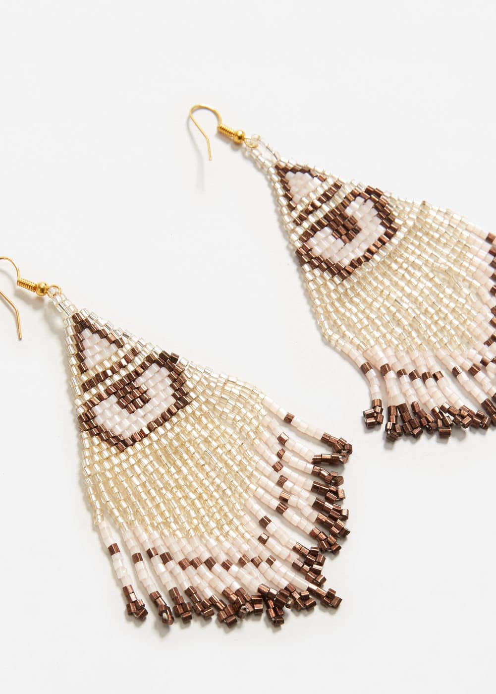 Beaded pendant earrings | MANGO