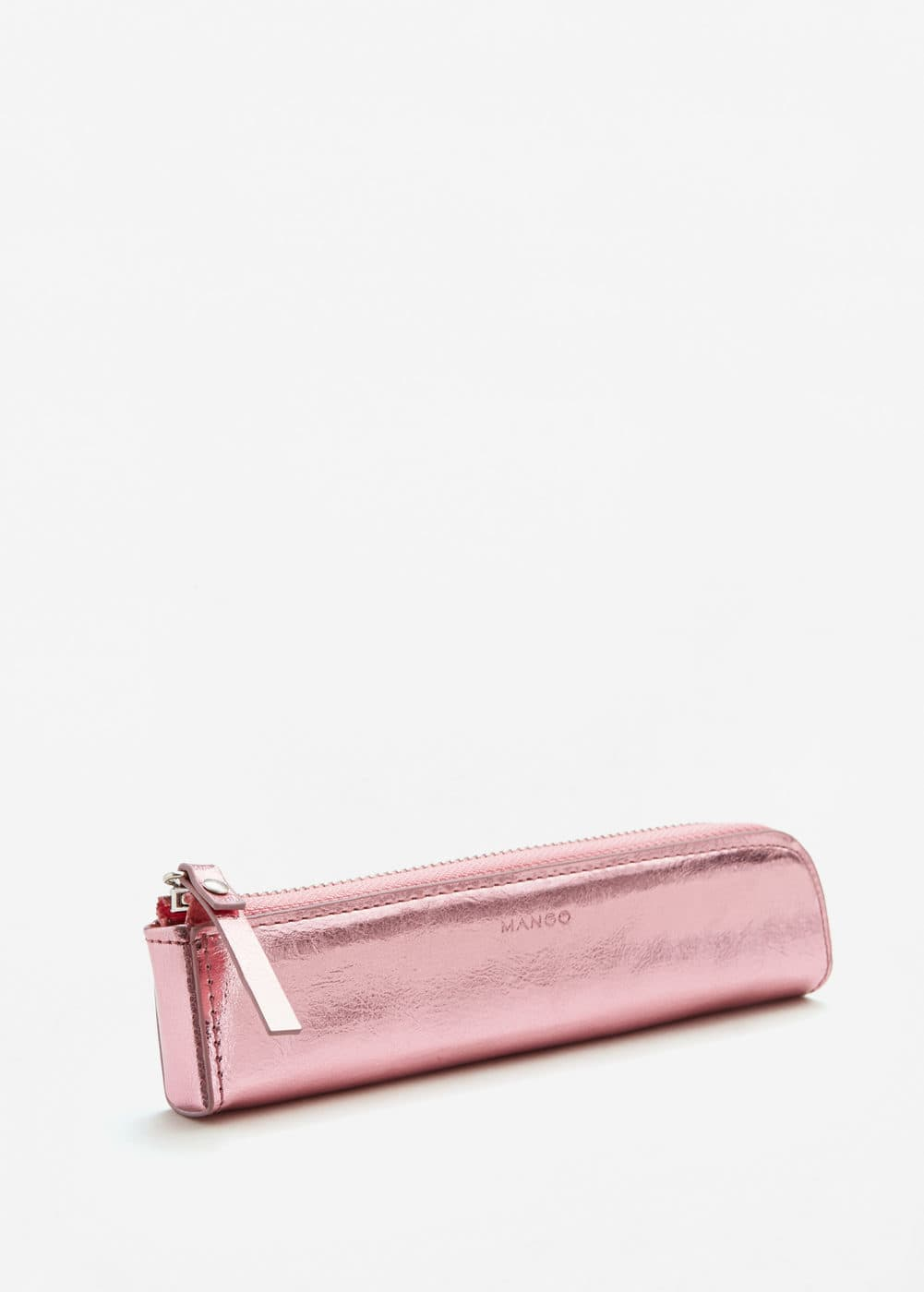 Mini metallic cosmetic bag | MANGO