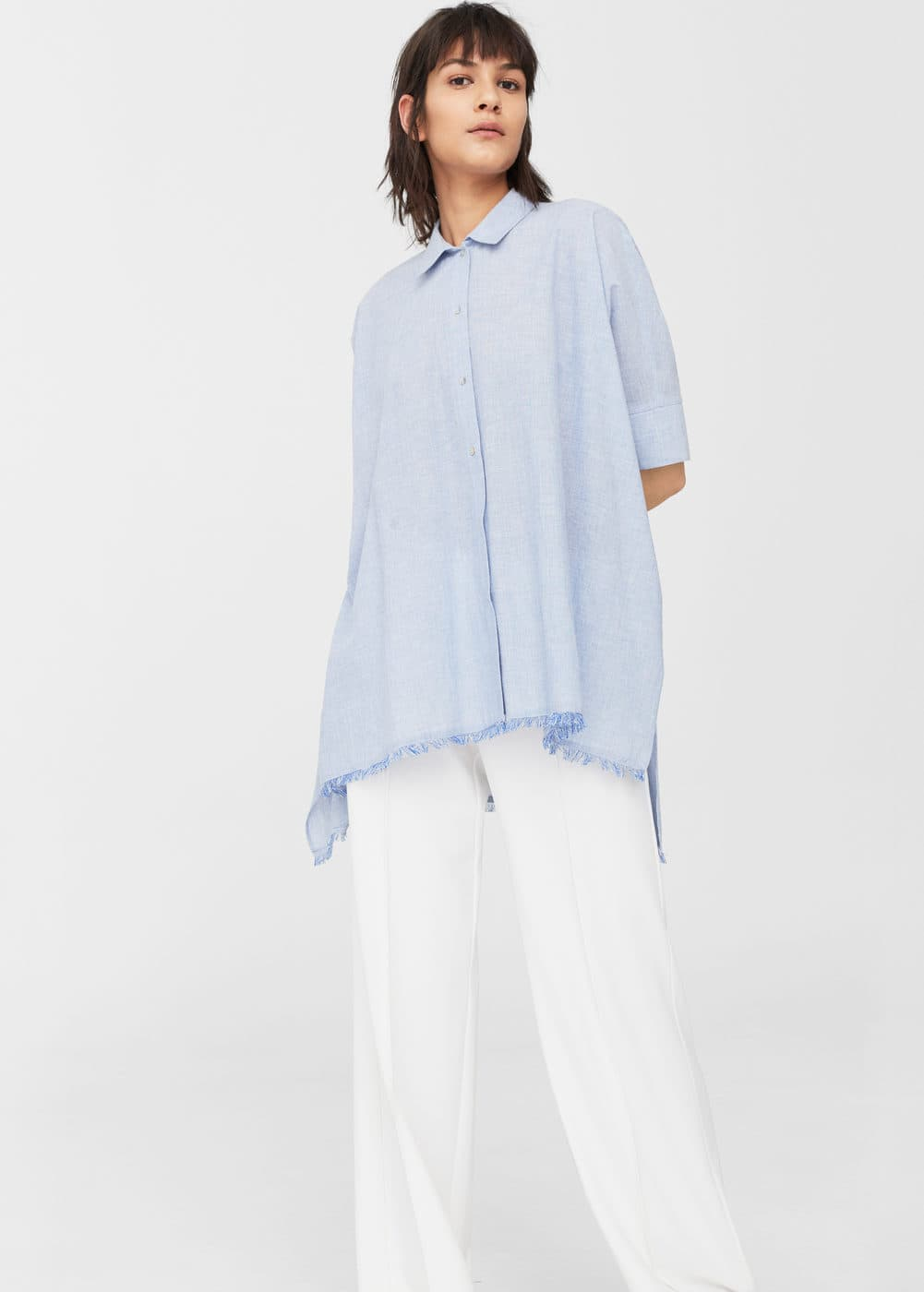 Frayed edges shirt | MANGO