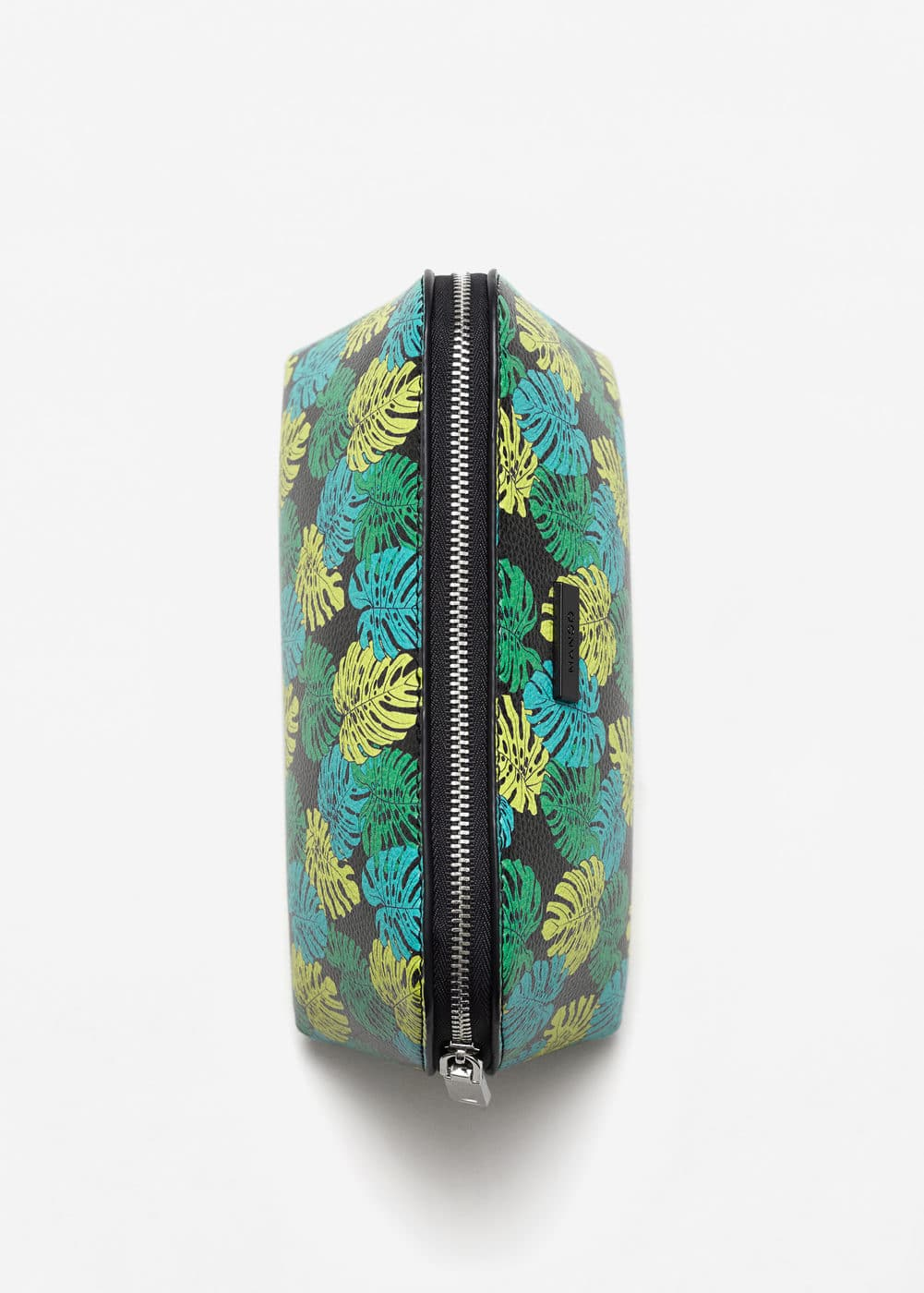 Leaf-print cosmetic bag | MANGO