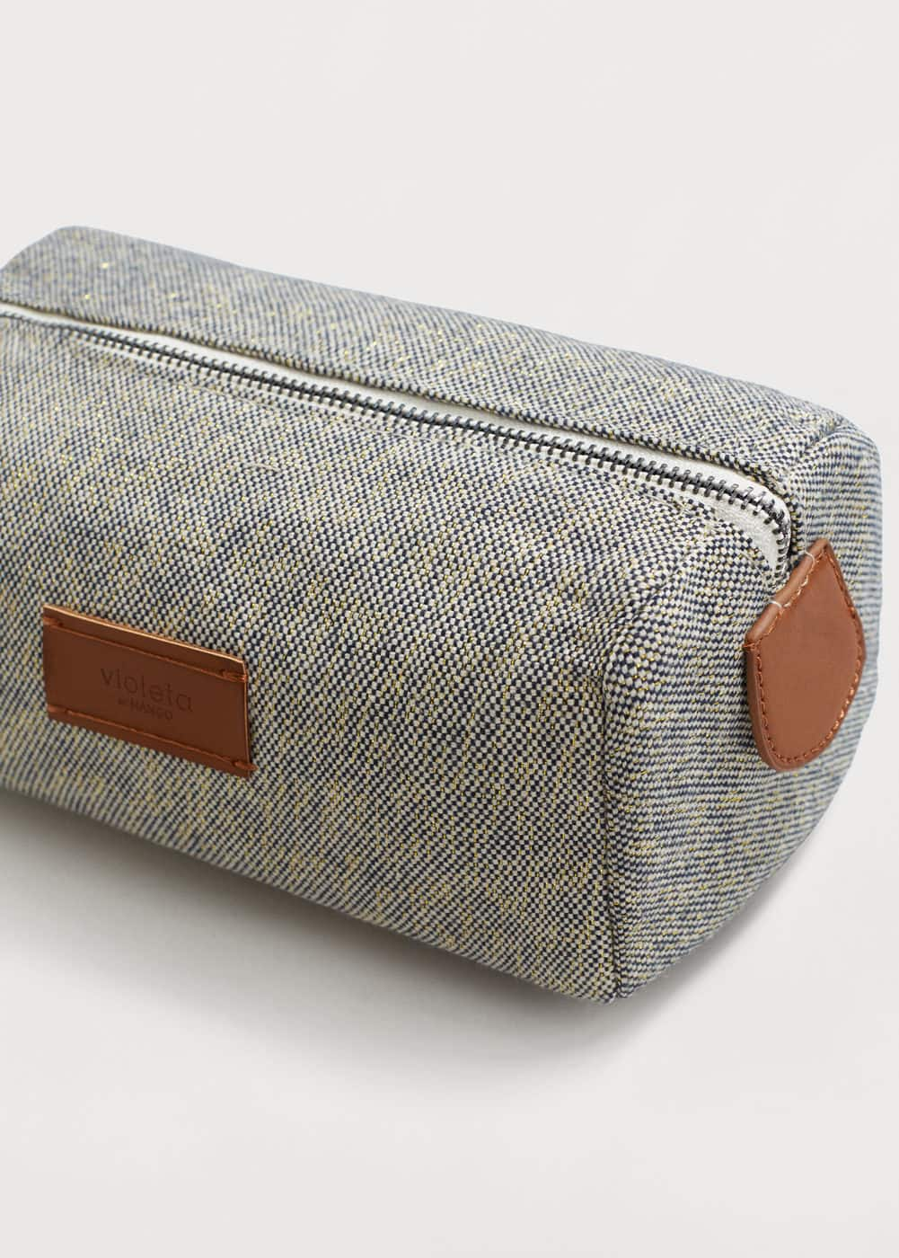 Textured cotton cosmetic bag | VIOLETA BY MANGO