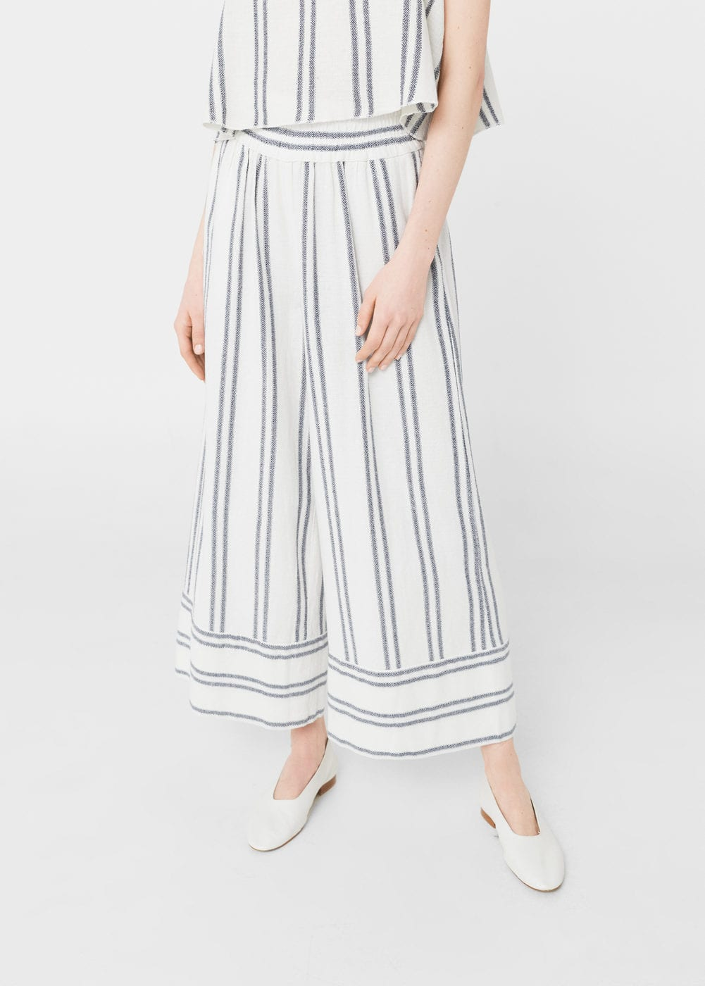 Striped crop trousers | MNG