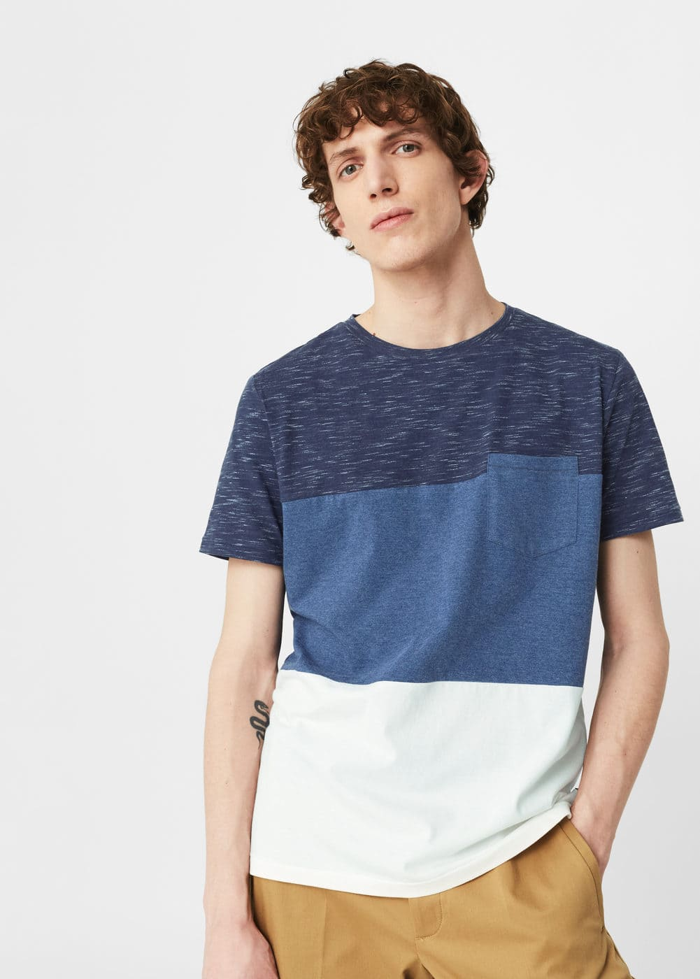 Pocket cotton t-shirt | MANGO