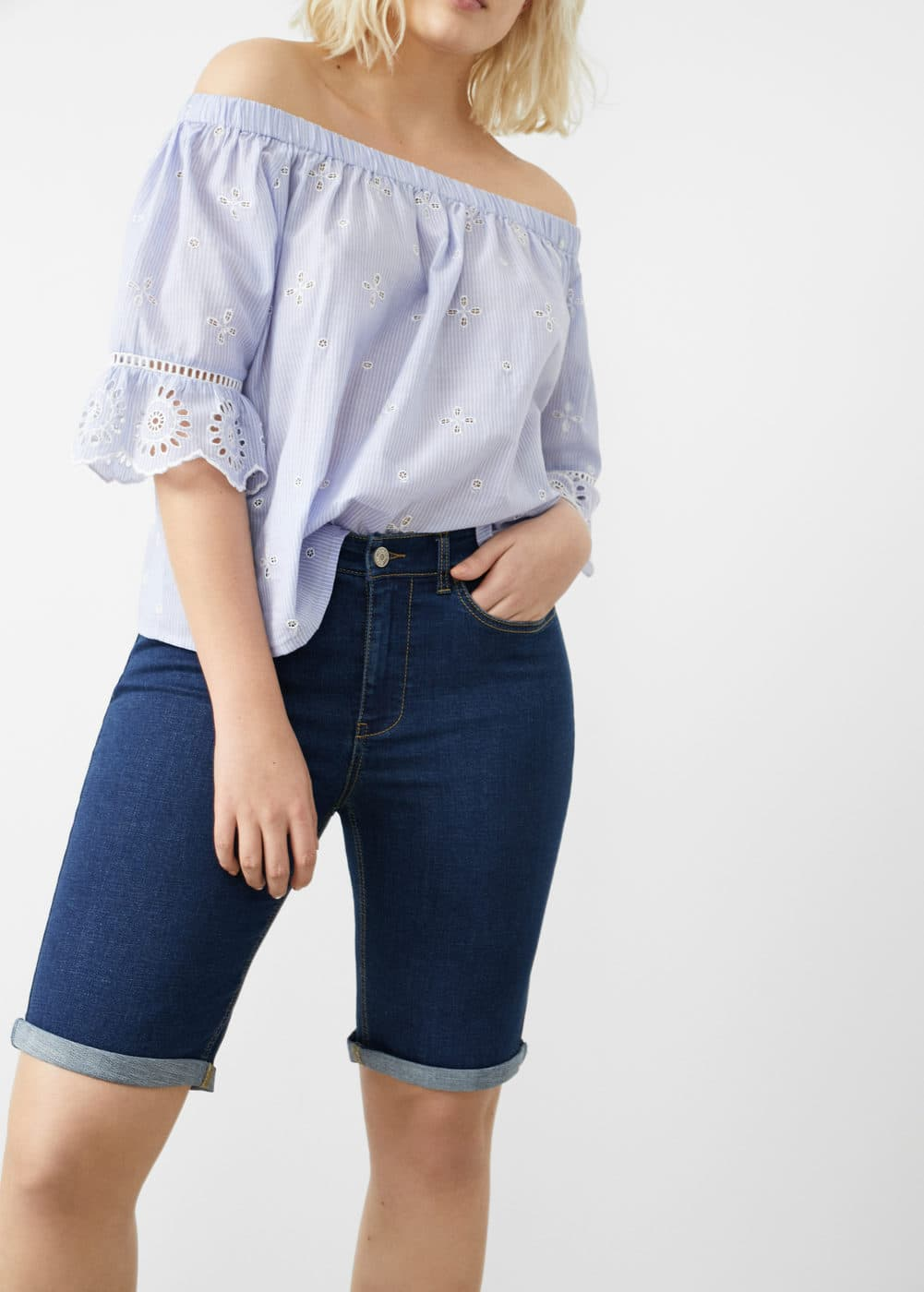 Short denim oscuro | VIOLETA BY MANGO