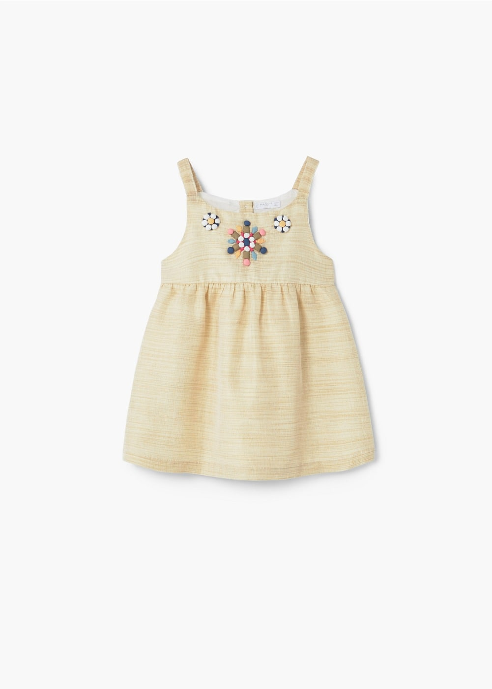 Embroidered detail dress | MANGO KIDS