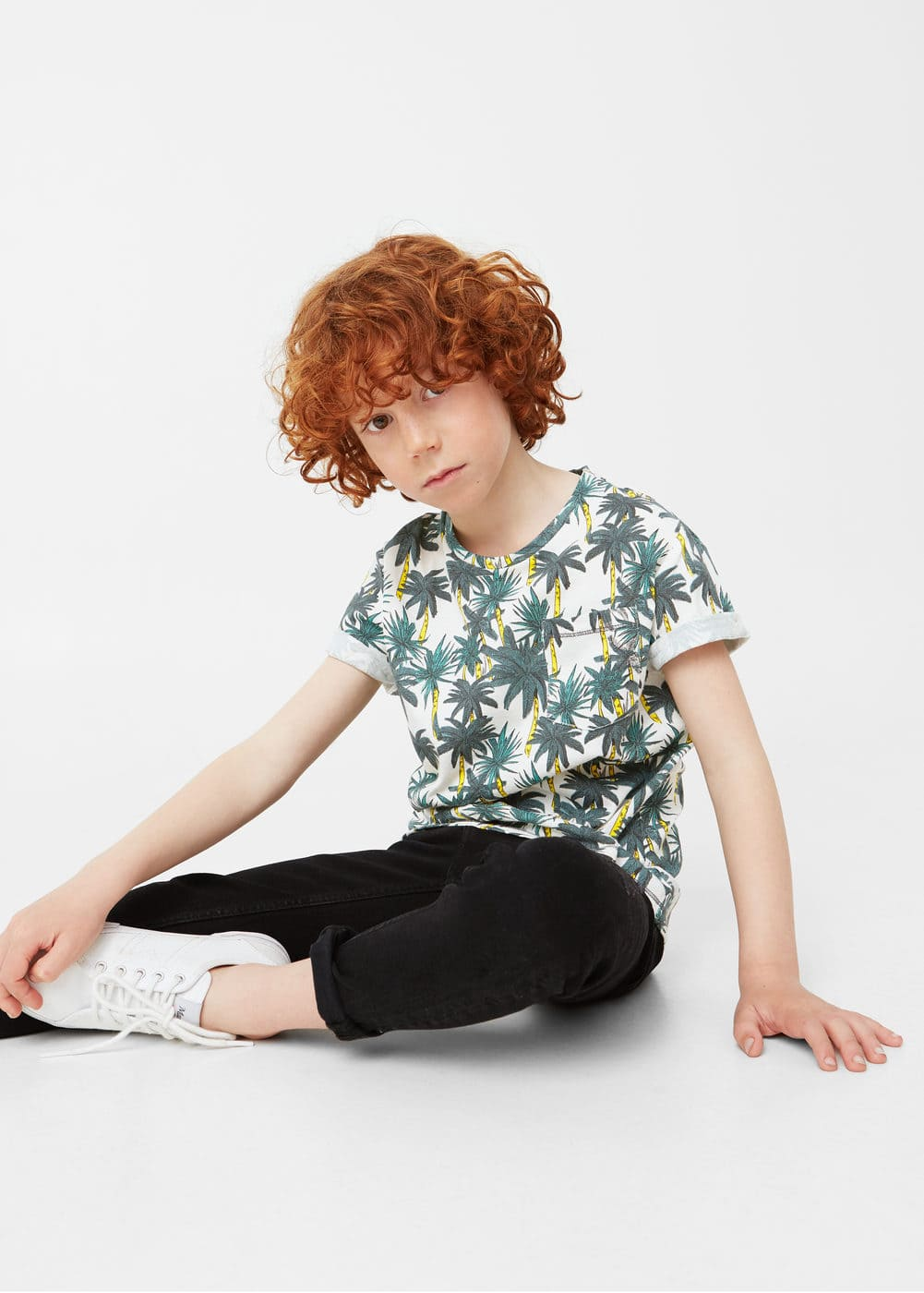 Palm print t-shirt | MANGO KIDS
