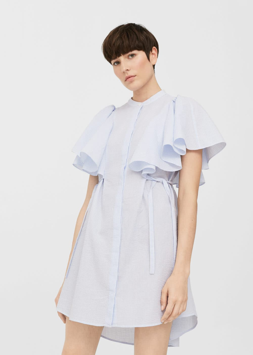 Maxi ruffles dress | MANGO