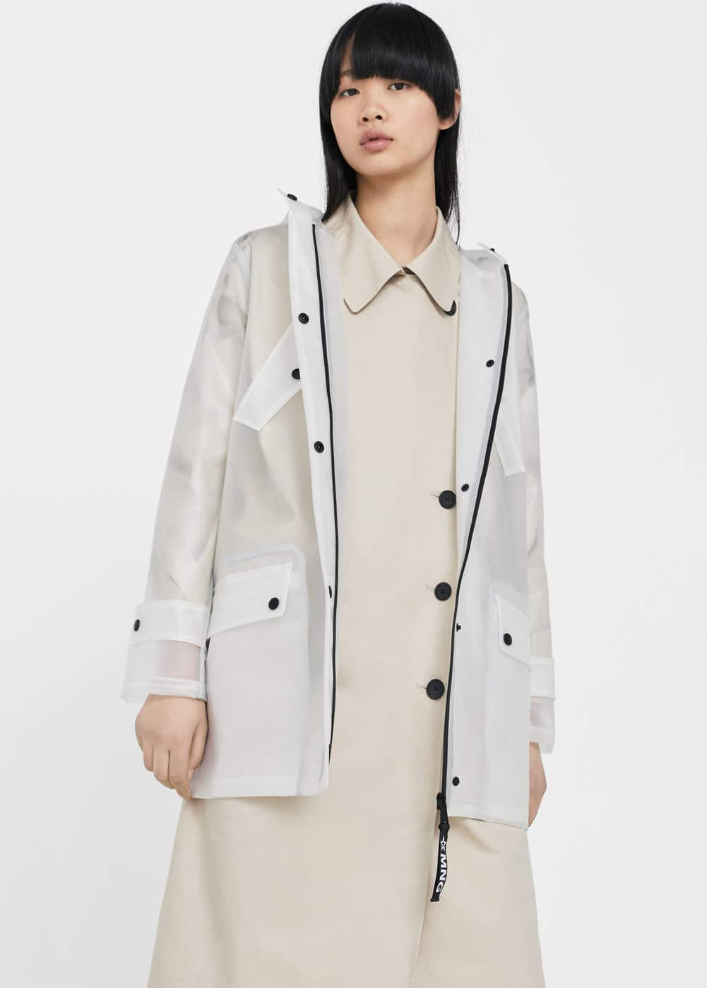 See-through parka | MANGO