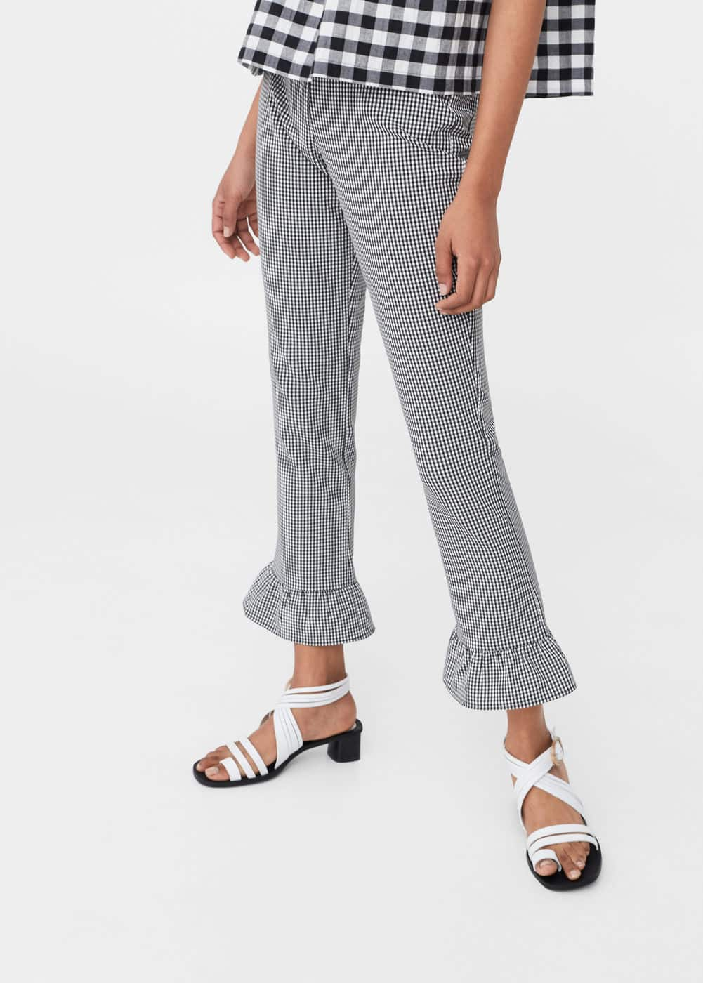 Ruffle vichy trousers | MNG