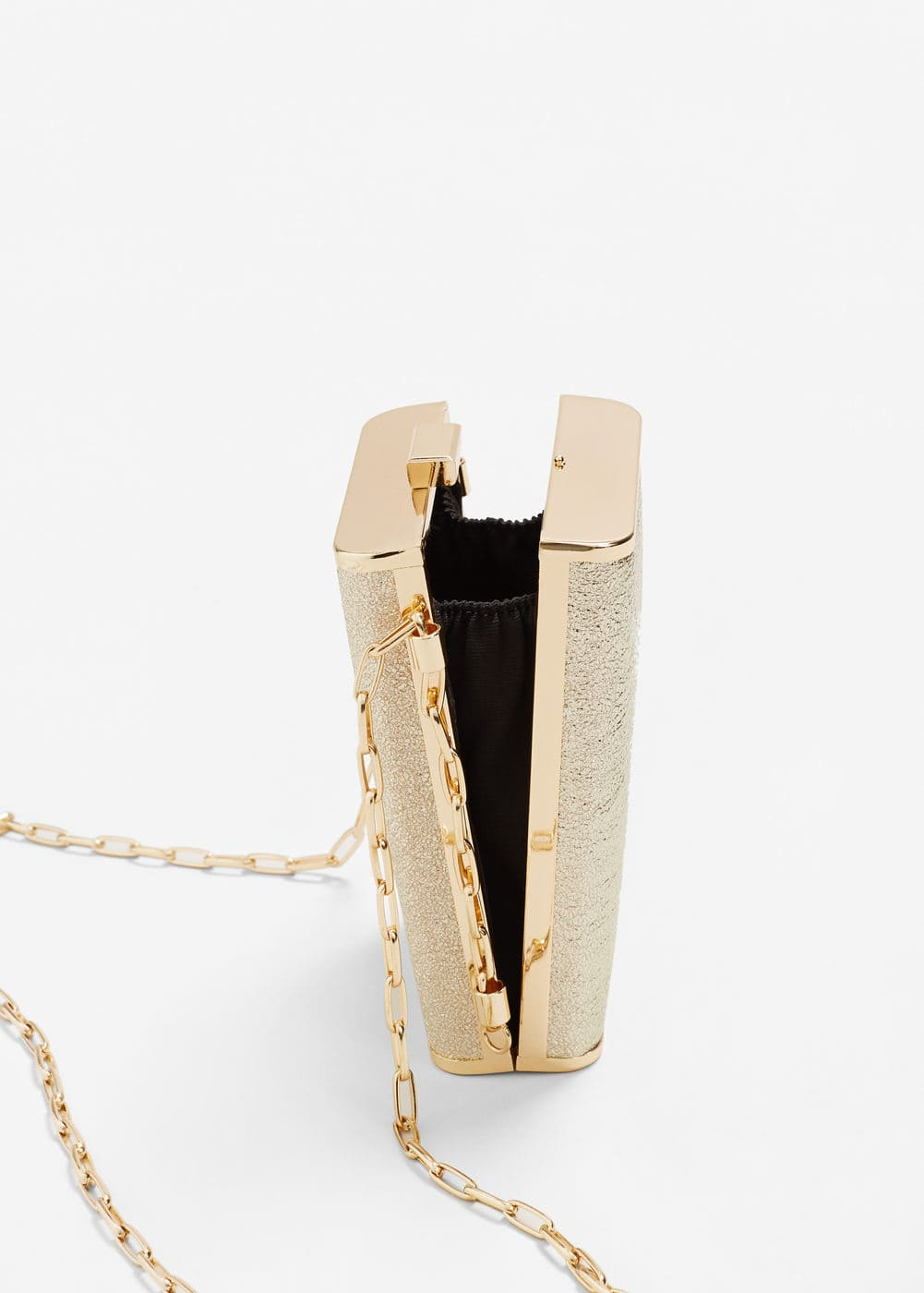Metallic box clutch | MANGO