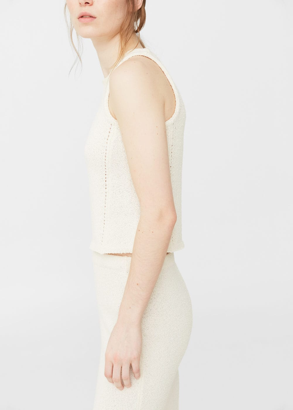 Cotton crop top | MANGO