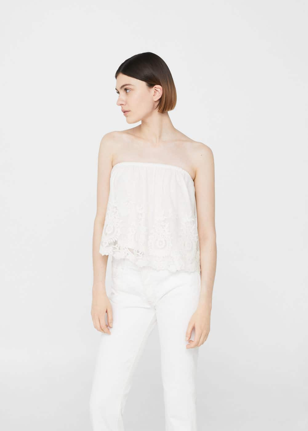 Off-shoulder top | MANGO