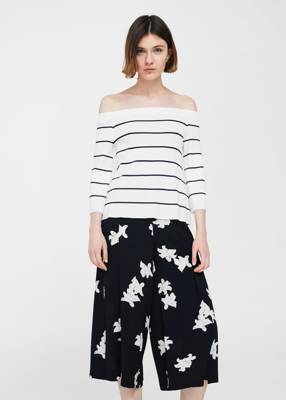 Jersei off-shoulder | MANGO