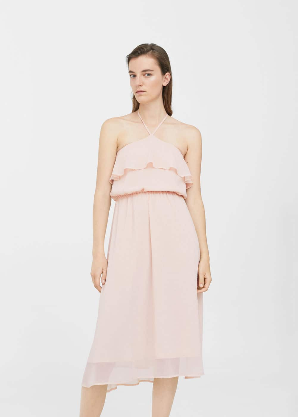 Ruffled chiffon dress | MANGO