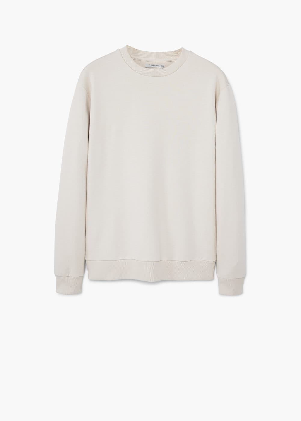 Textured cotton-blend sweatshirt | MANGO
