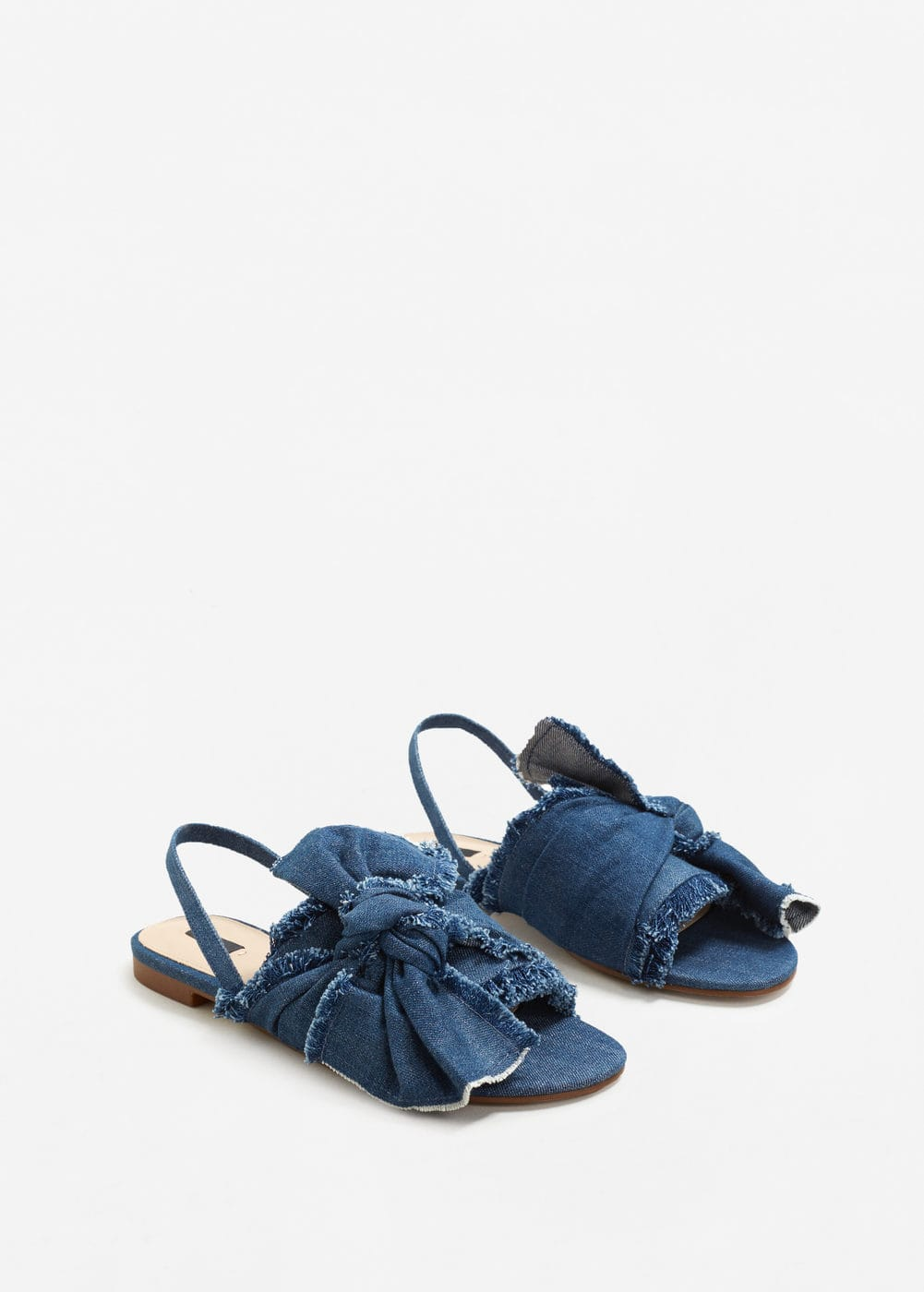 Bow denim sandal | MANGO