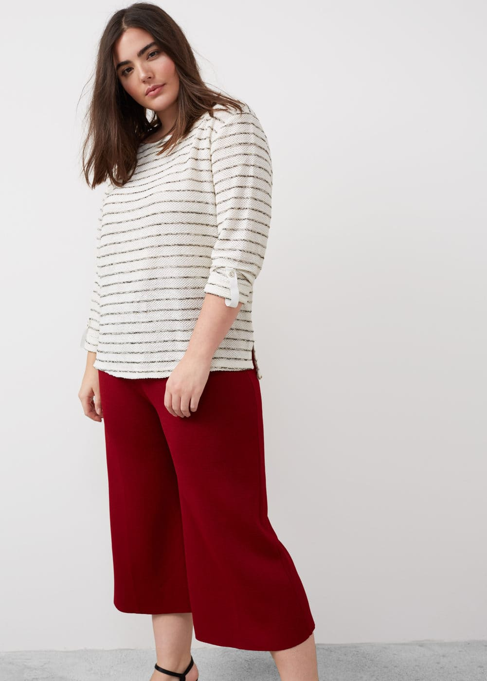 Textured striped sweatshirt | MANGO